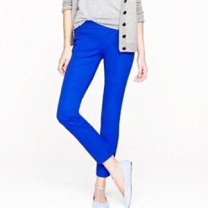 EUC J.Crew royal blue Minnie cropped pants size 00